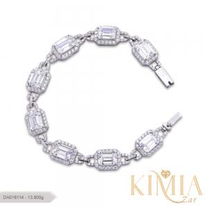 دستبند پایه جواهر لوکس کد DA018114