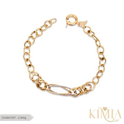 دستبند صالح طلا کد DA0601007